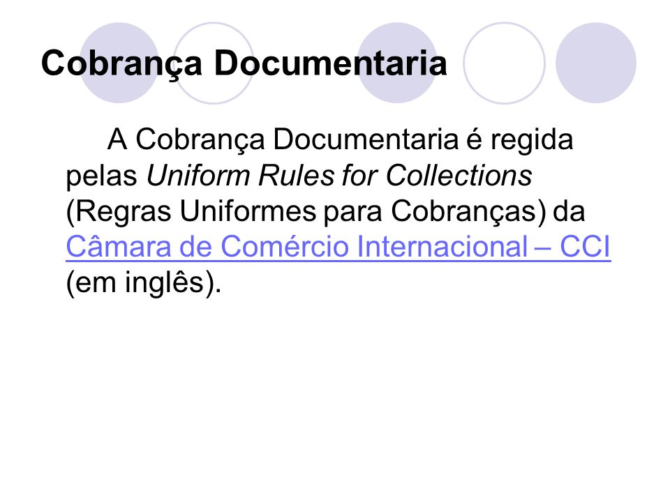 Cobrança Documentaria