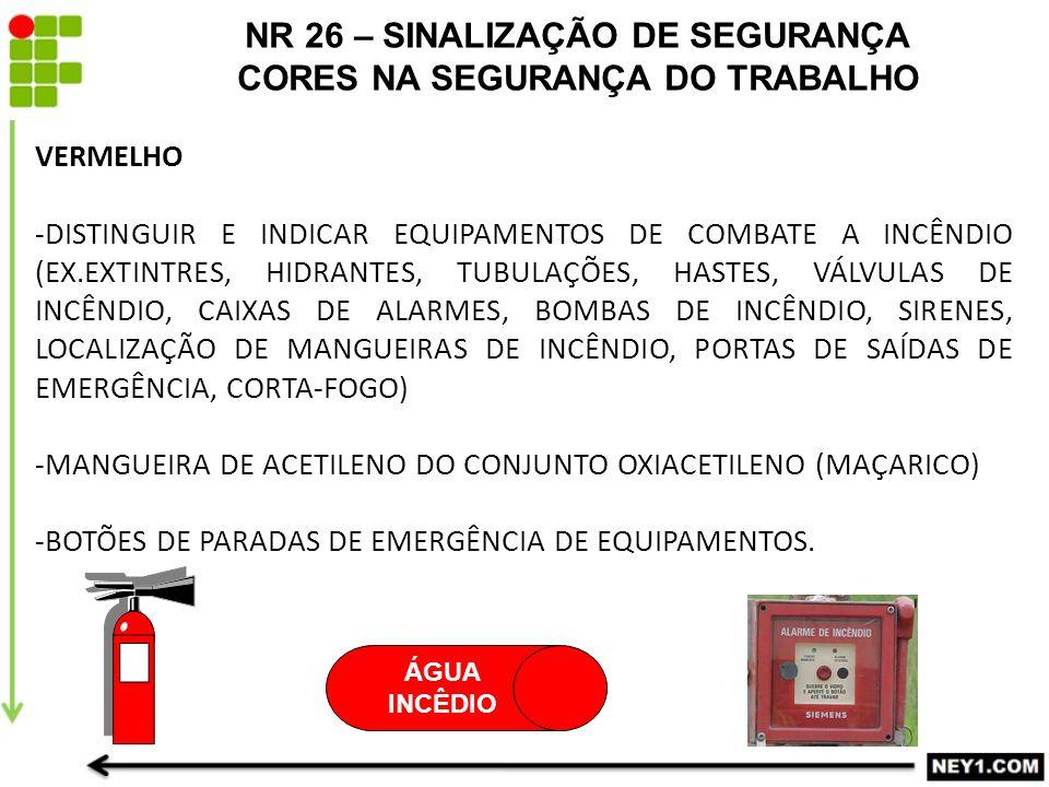 70a7a94560d15 NR 26 – SINALIZAÇÃO DE SEGURANÇA CORES NA SEGURANÇA DO TRABALHO ...