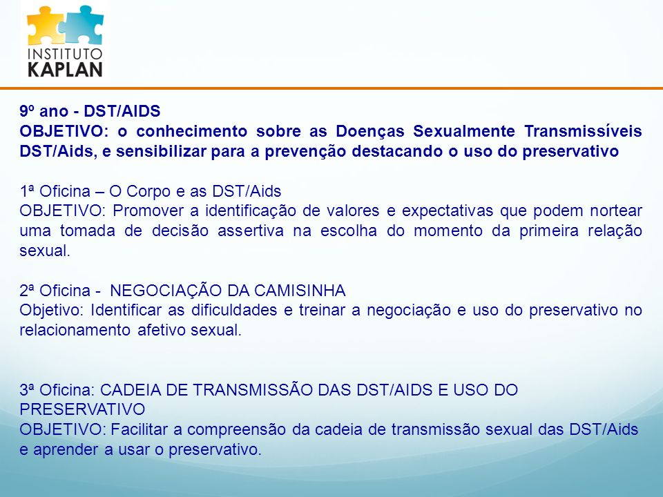 9º ano - DST/AIDS