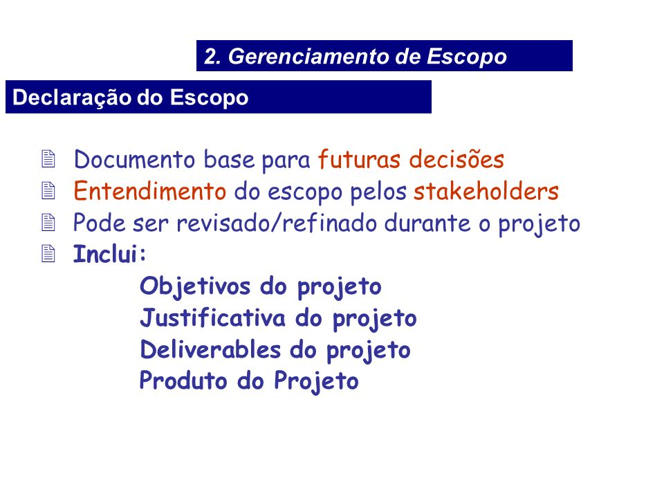 Documento base para futuras decisões