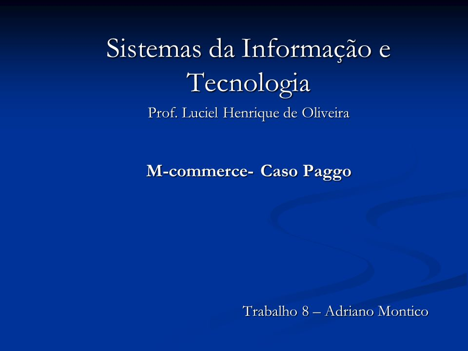 M-commerce- Caso Paggo