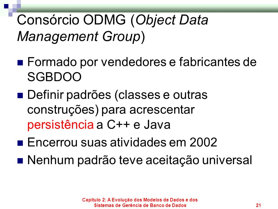 Consórcio ODMG (Object Data Management Group)