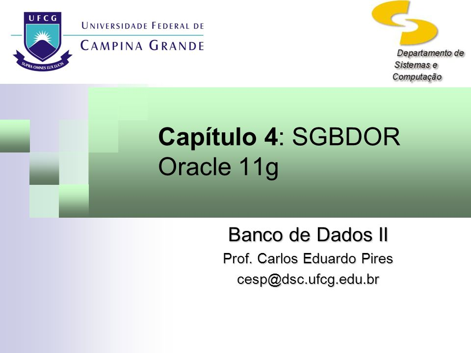 Capítulo 4: SGBDOR Oracle 11g
