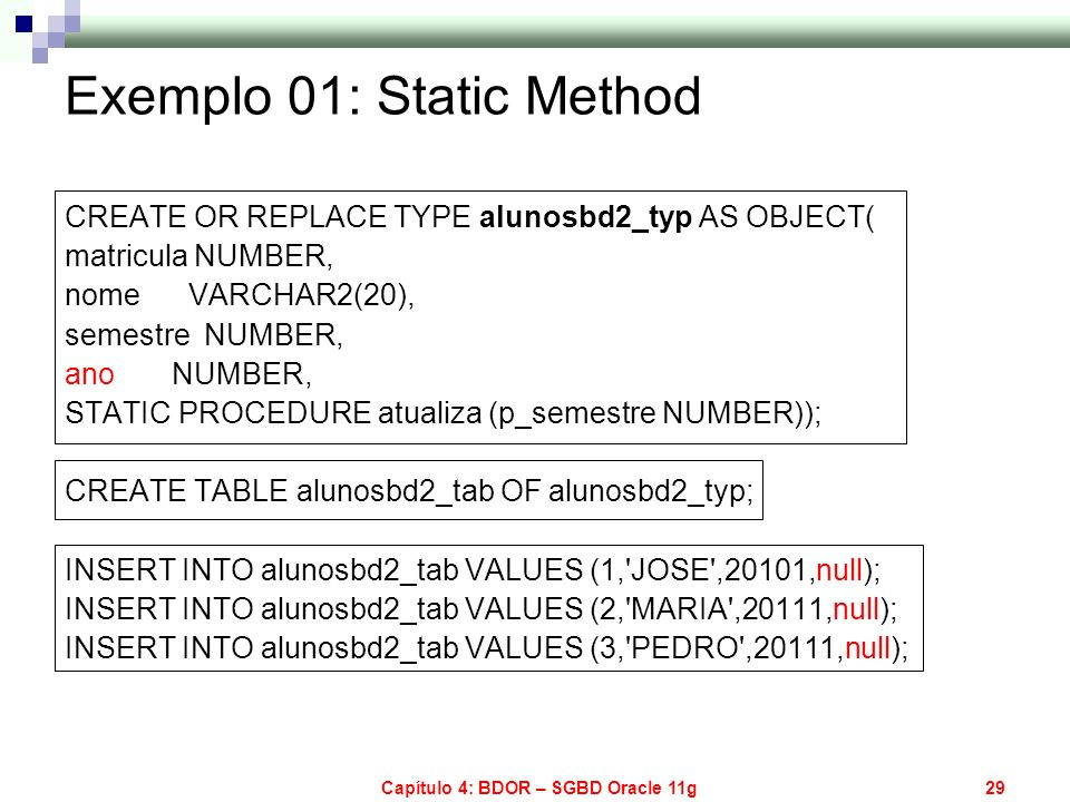 Exemplo 01: Static Method