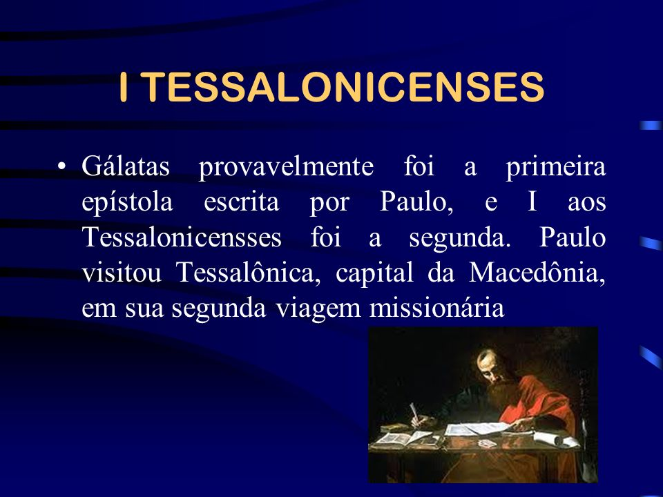 I TESSALONICENSES