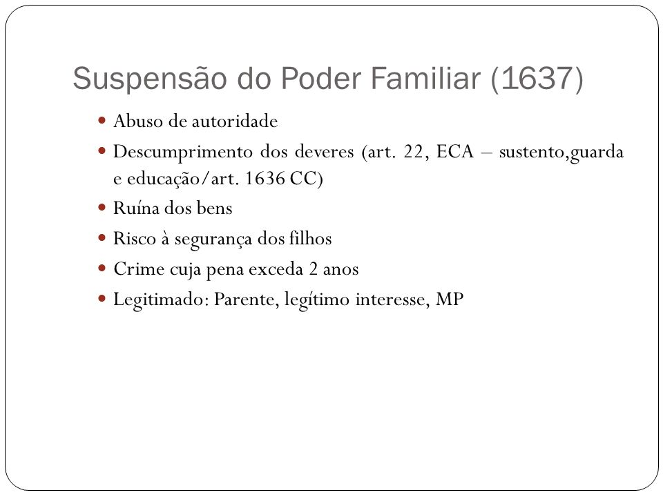 Suspensão do Poder Familiar (1637)