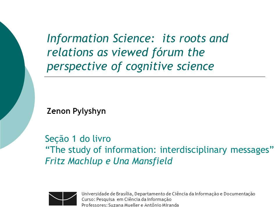Information science its roots and relations as viewed frum the information science its roots and relations as viewed frum the perspective of cognitive science fandeluxe Images