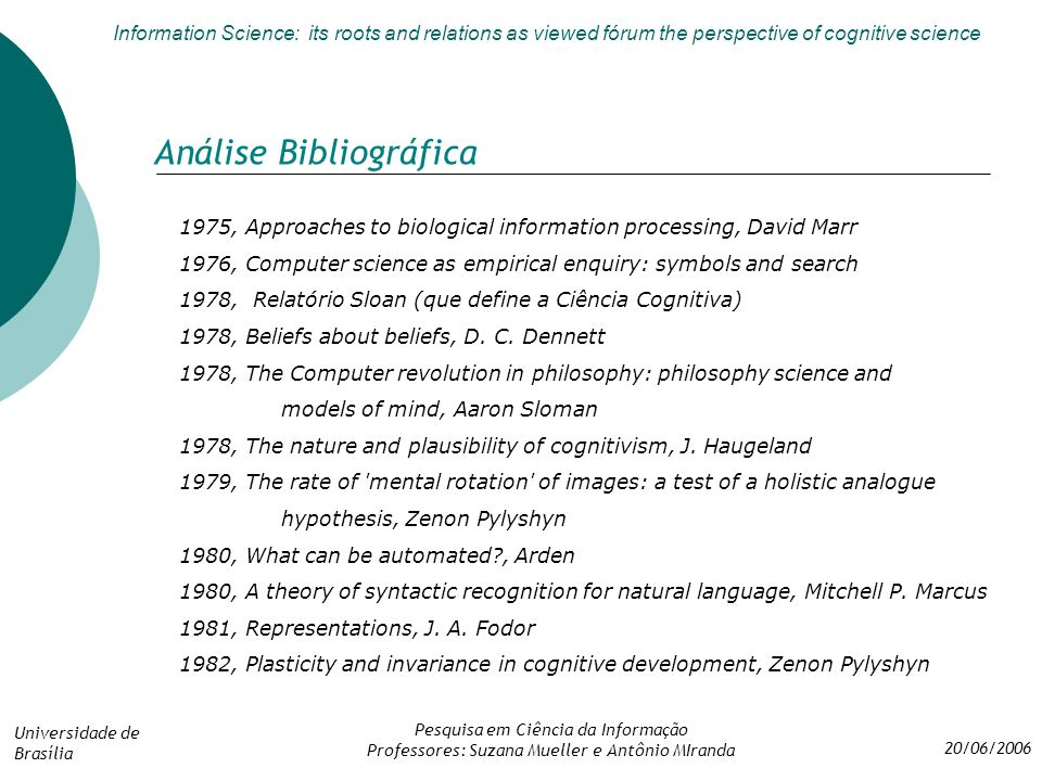 Information science its roots and relations as viewed frum the 7 anlise bibliogrfica fandeluxe Images