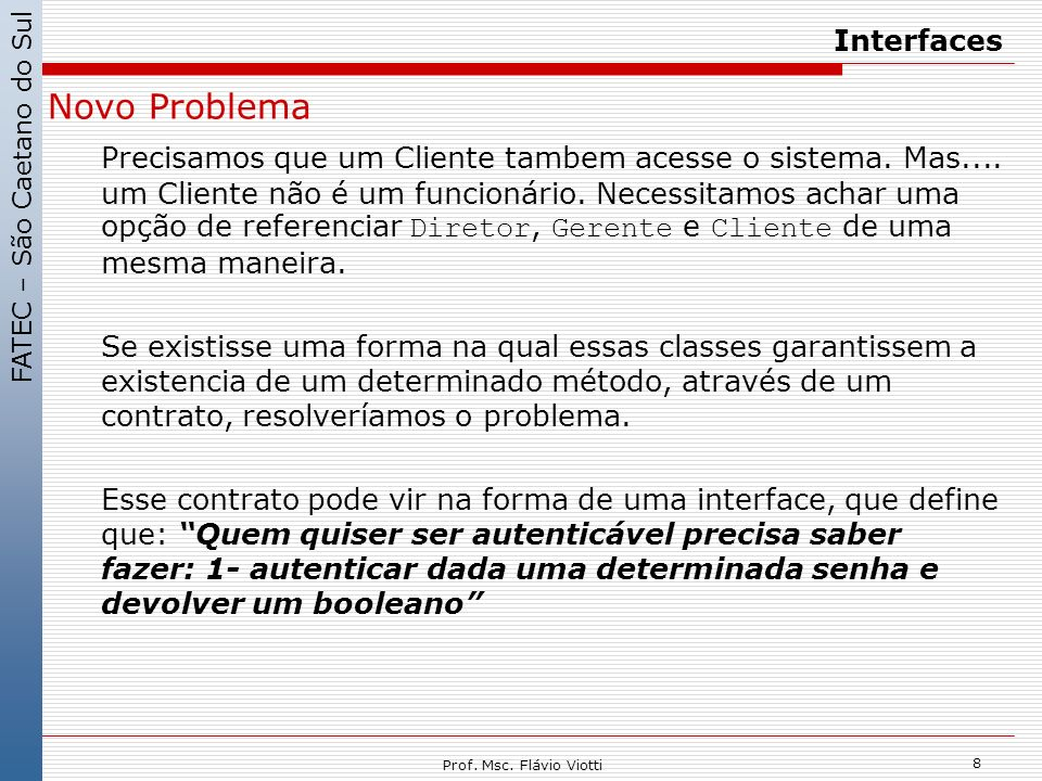 Interfaces Novo Problema.