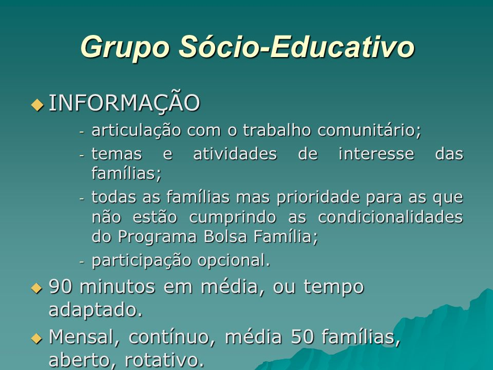 Grupo Sócio-Educativo