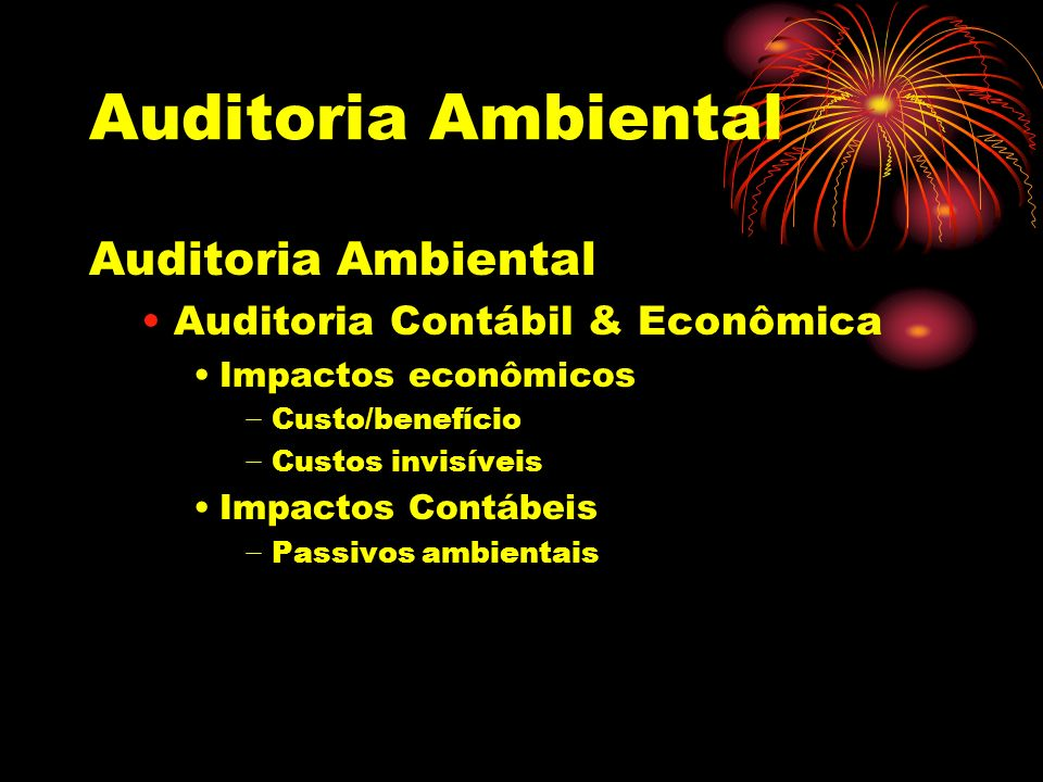 Auditoria Ambiental Auditoria Ambiental Auditoria Contábil & Econômica
