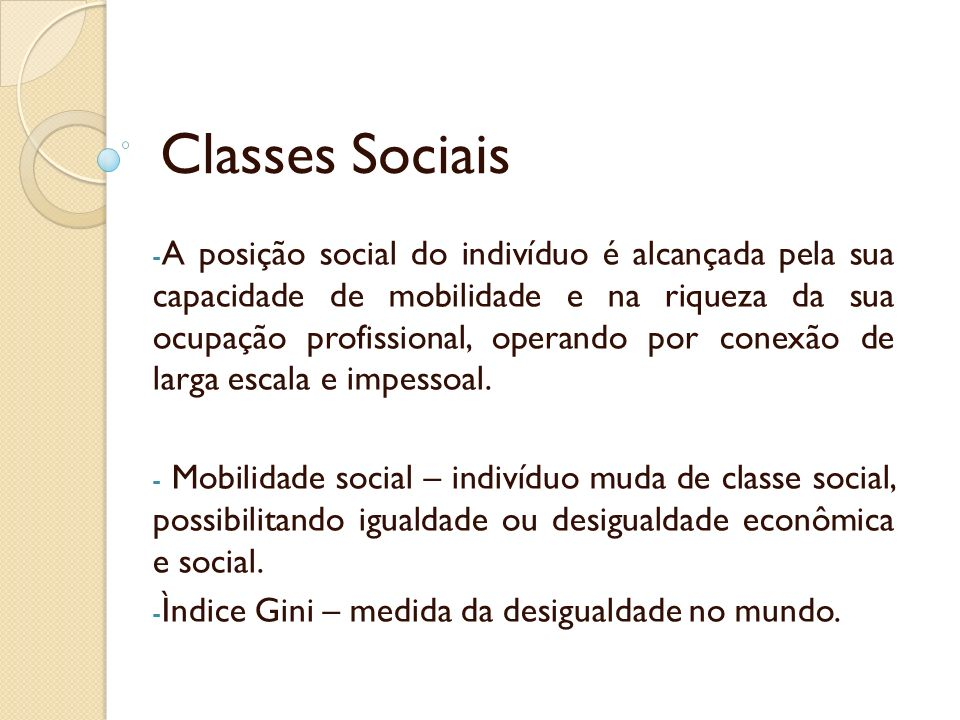 Classes Sociais