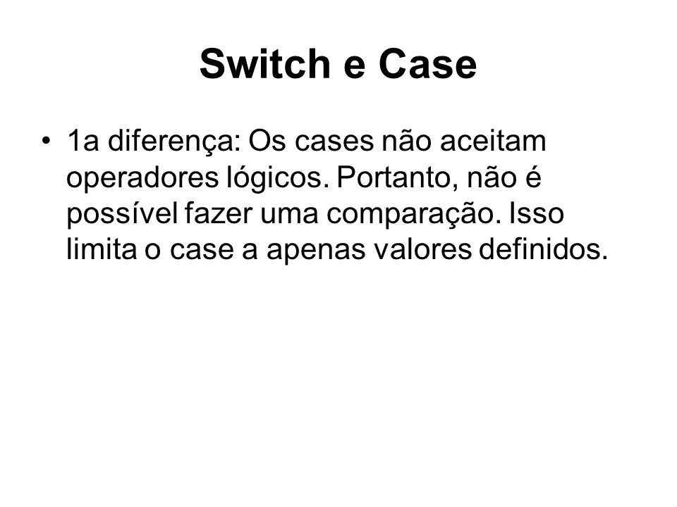 Switch e Case