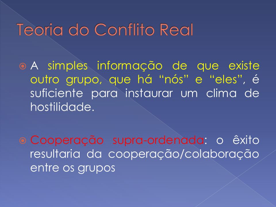 Teoria do Conflito Real