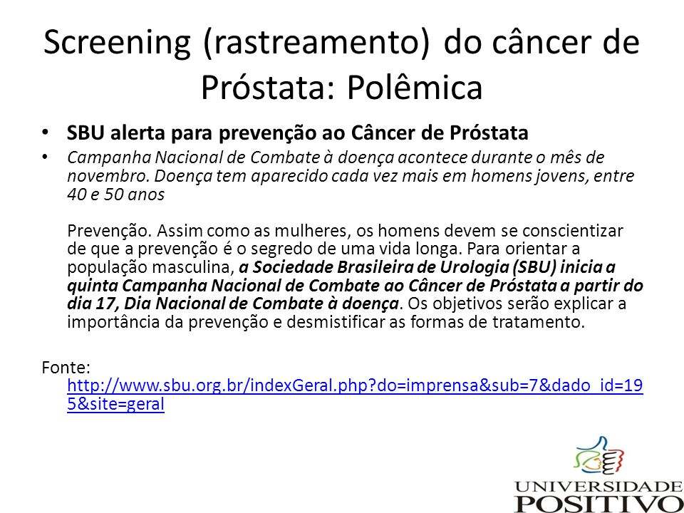 cancer prostata rastreamento)