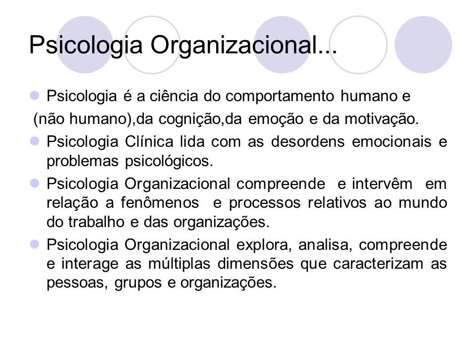 Psicologia Organizacional Ppt Video Online Carregar