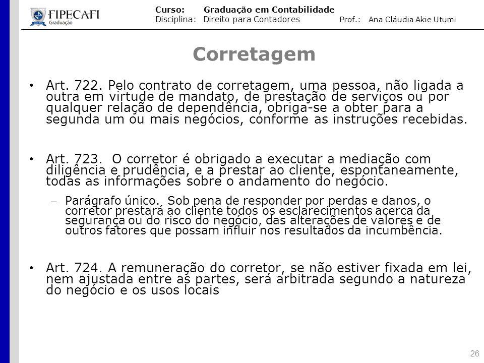 Aula Direito Civil Espécies De Contrato Mandato Comissão