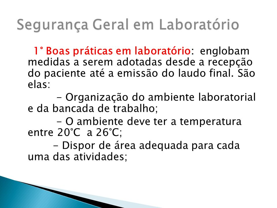 Boas praticas laboratorio de analises clinicas