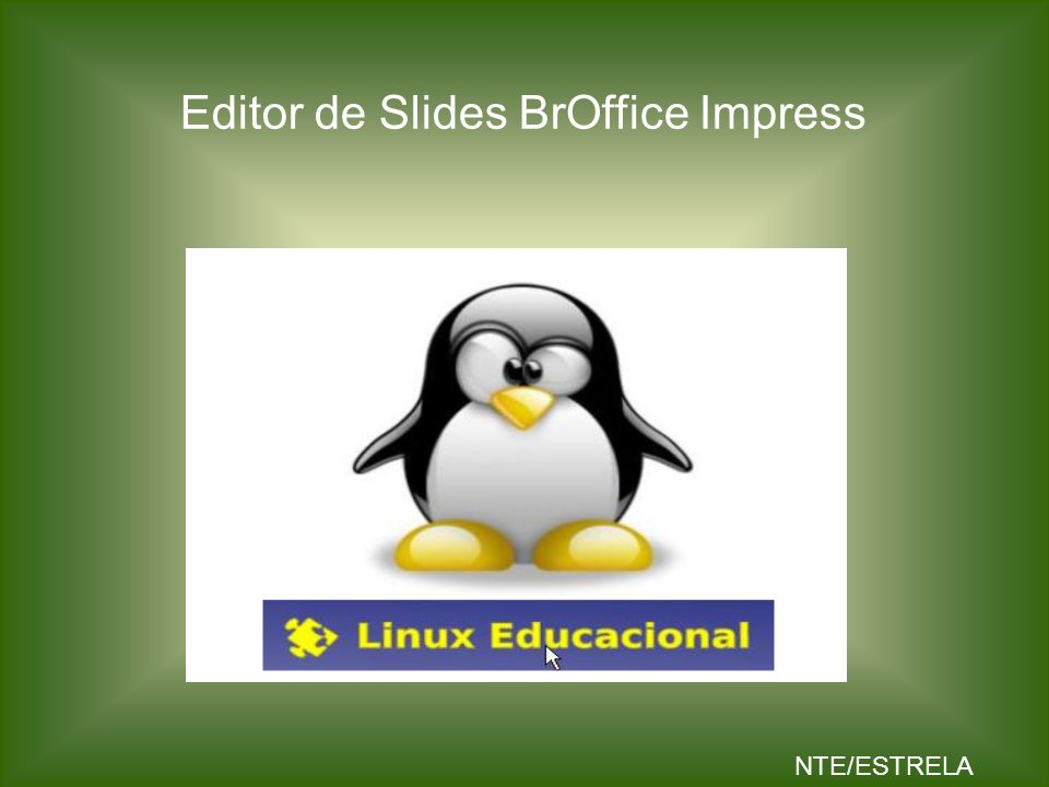 Editor de Slides BrOffice Impress