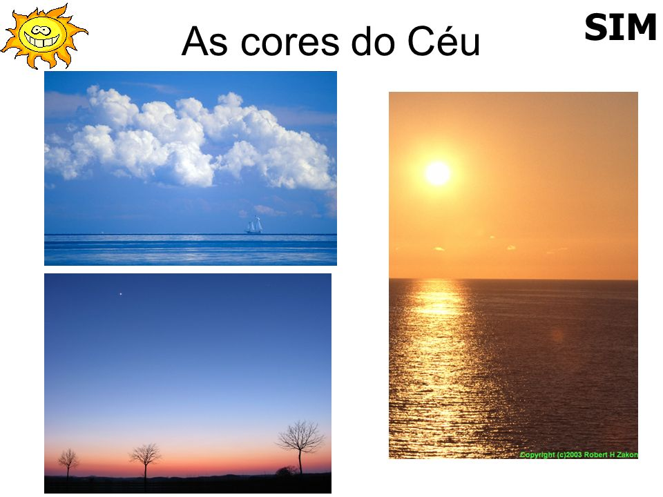 As cores do Céu SIM