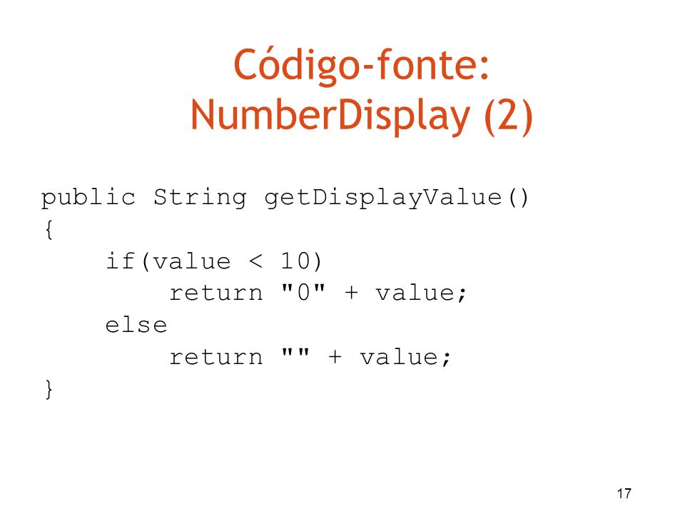 Código-fonte: NumberDisplay (2)