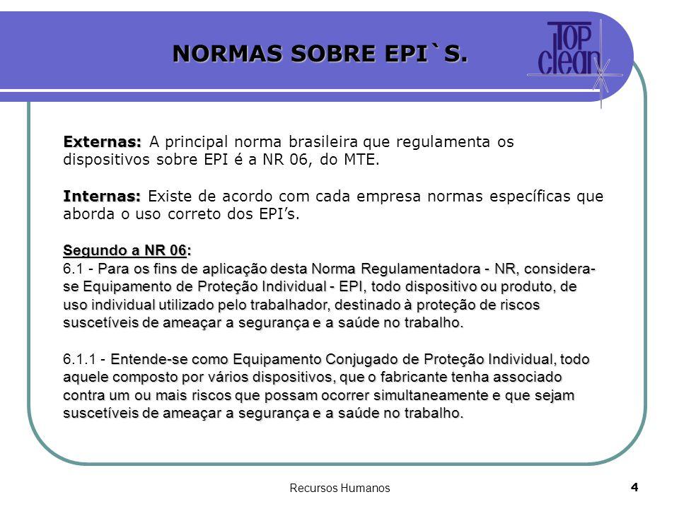 20f6ccb5e9288 NORMAS SOBRE EPI`S. Externas  A principal norma brasileira que regulamenta  os dispositivos
