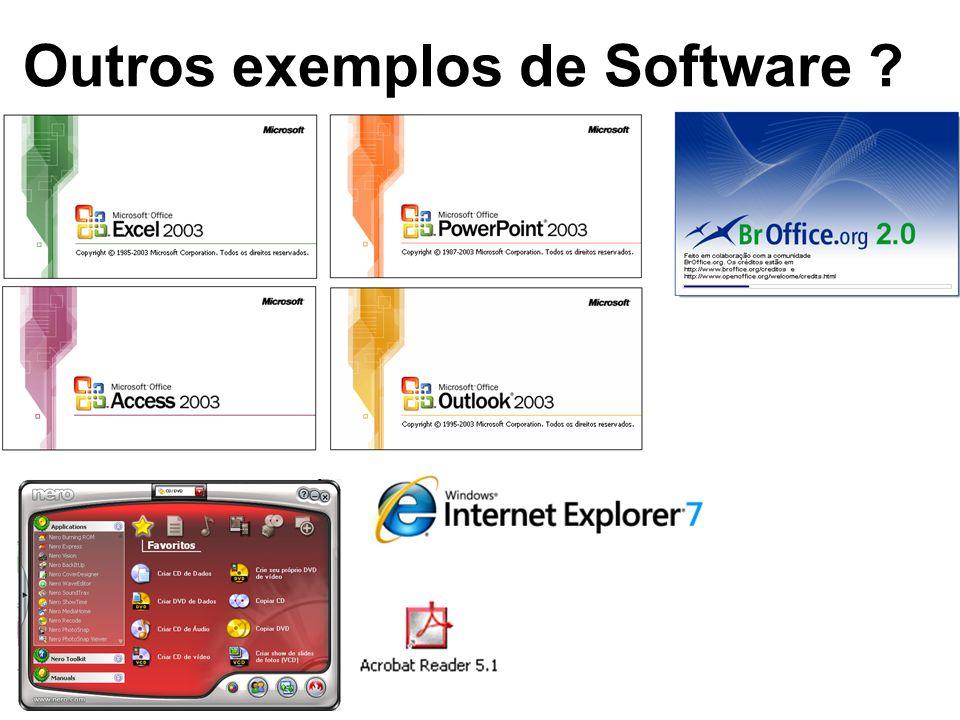 Aula 2 – Software O que é Software ? Outros exemplos de Software - ppt  carregar