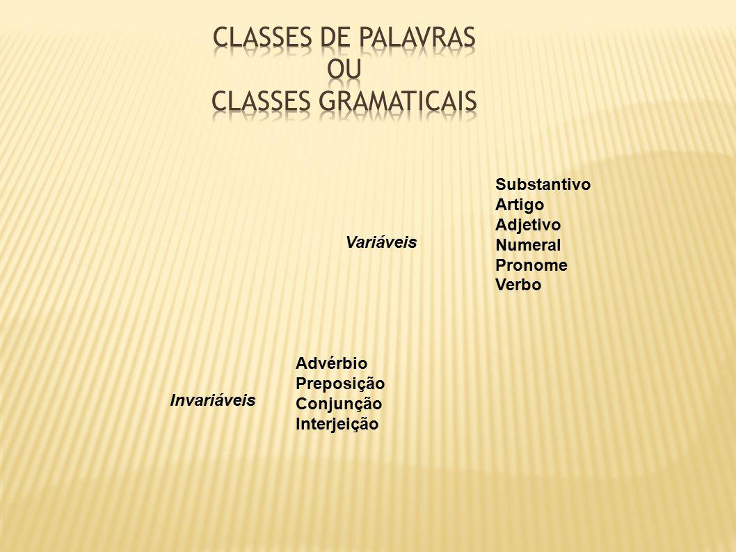 a418c564b CLASSES DE PALAVRAS ou Classes gramaticais - ppt carregar