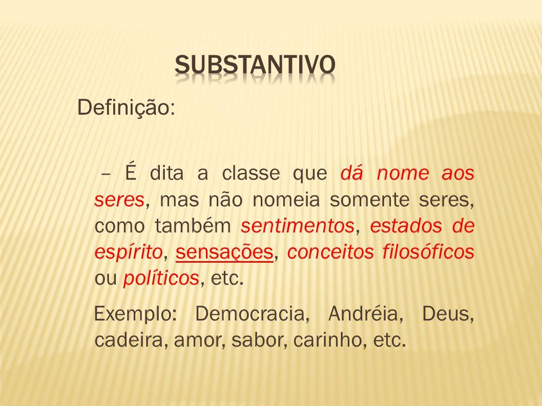 Substantivo definição e classificação