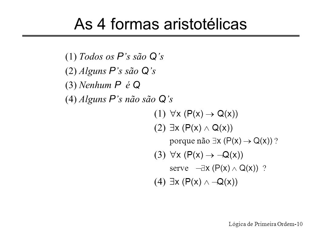 As 4 formas aristotélicas