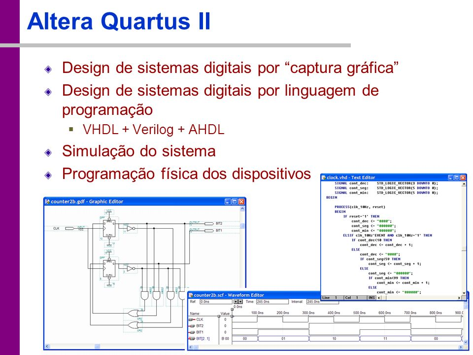 Altera Quartus II Design de sistemas digitais por captura gráfica