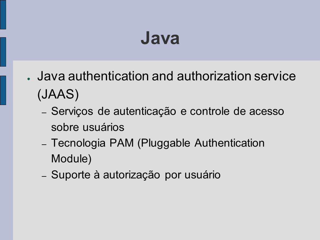 Java Java authentication and authorization service (JAAS)