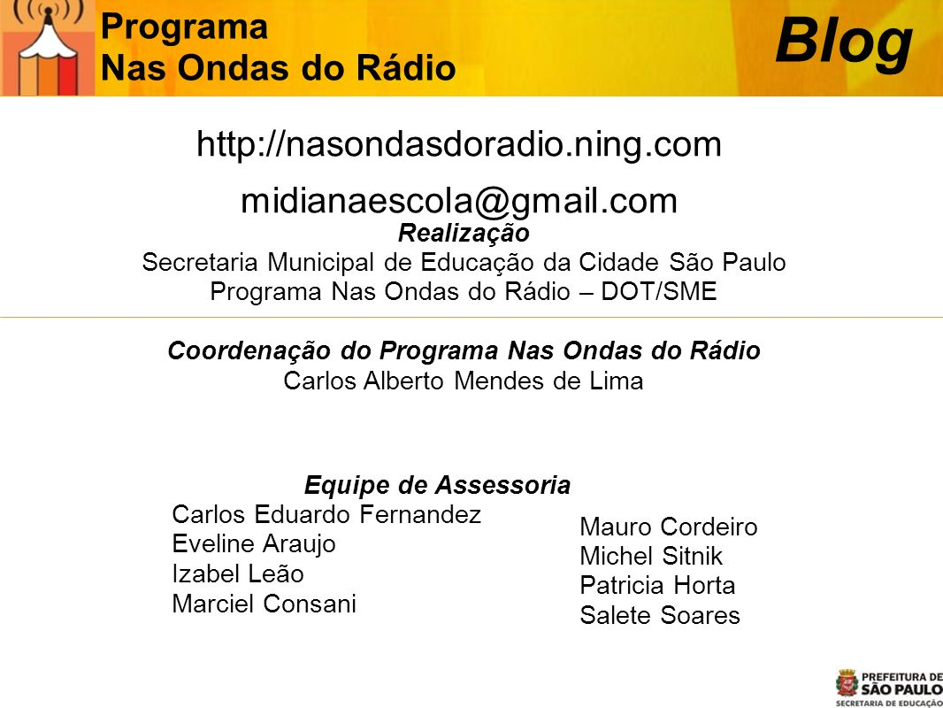 Blog Programa Nas Ondas do Rádio