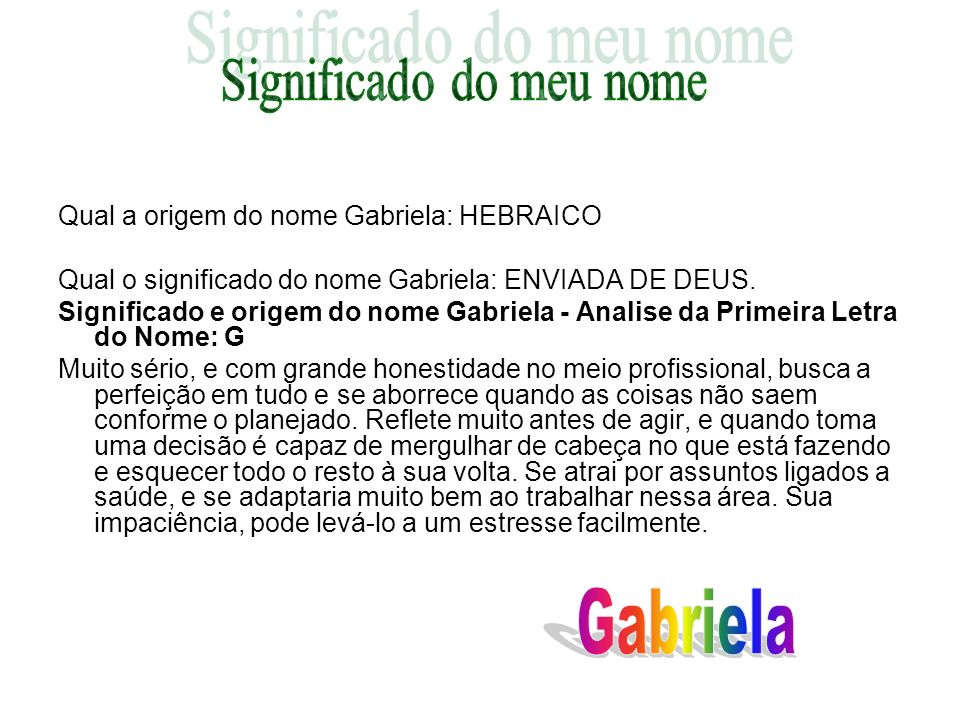 Significado do meu nome