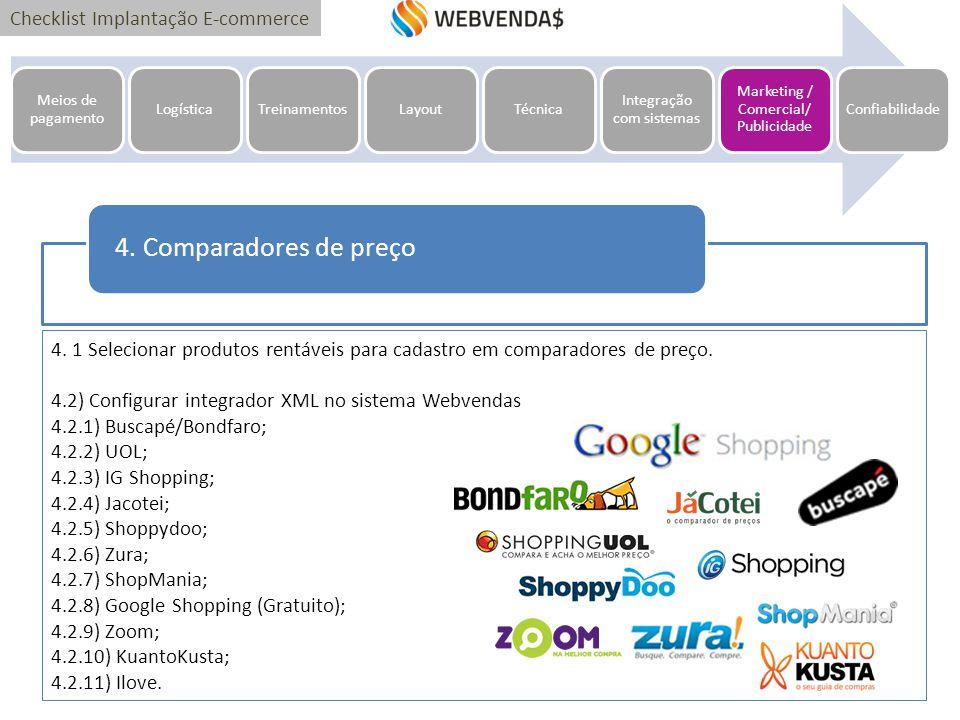 102a71939 Meios de pagamento Logística. Treinamentos. Layout. Técnica. Integração com  sistemas. Marketing