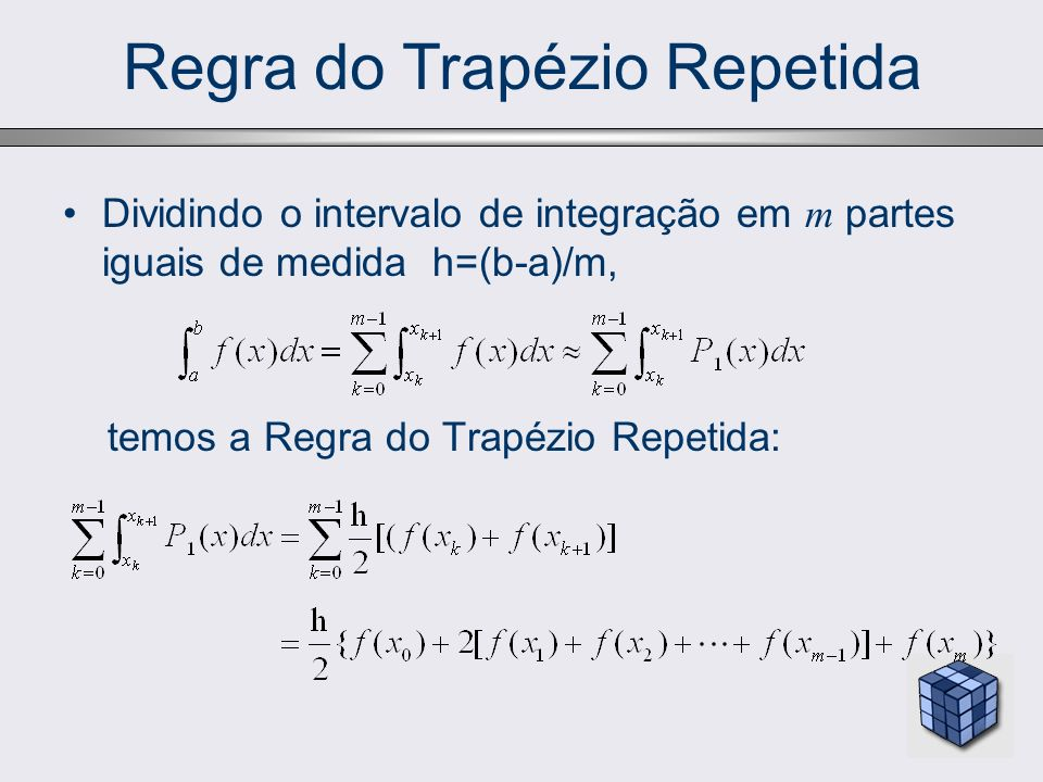 Regra do Trapézio Repetida