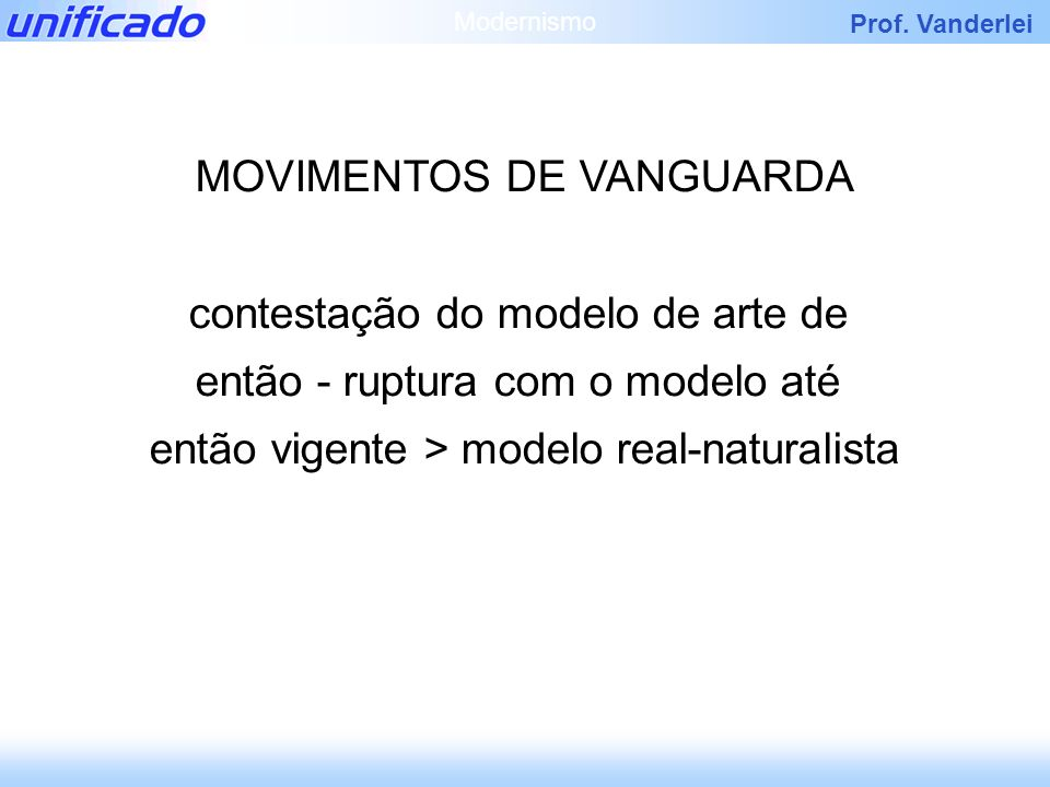 MOVIMENTOS DE VANGUARDA
