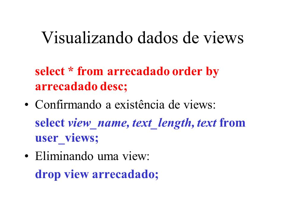 Visualizando dados de views