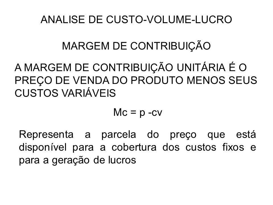 ANALISE DE CUSTO-VOLUME-LUCRO