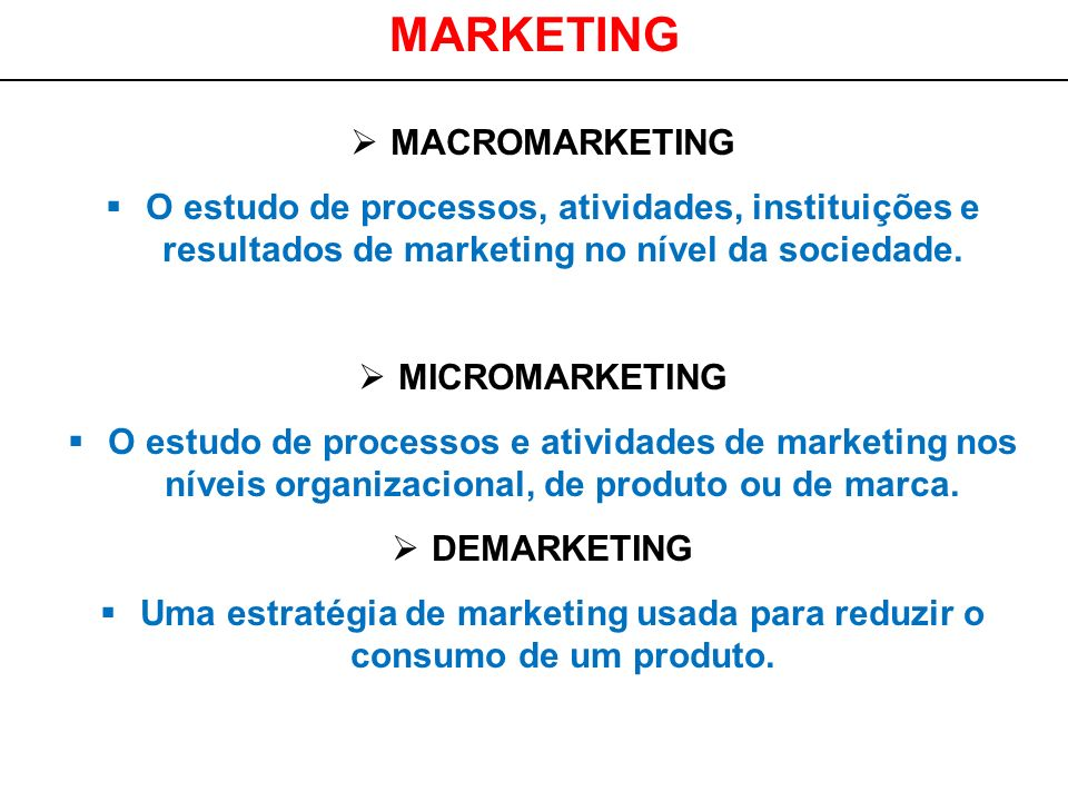 MARKETING MACROMARKETING