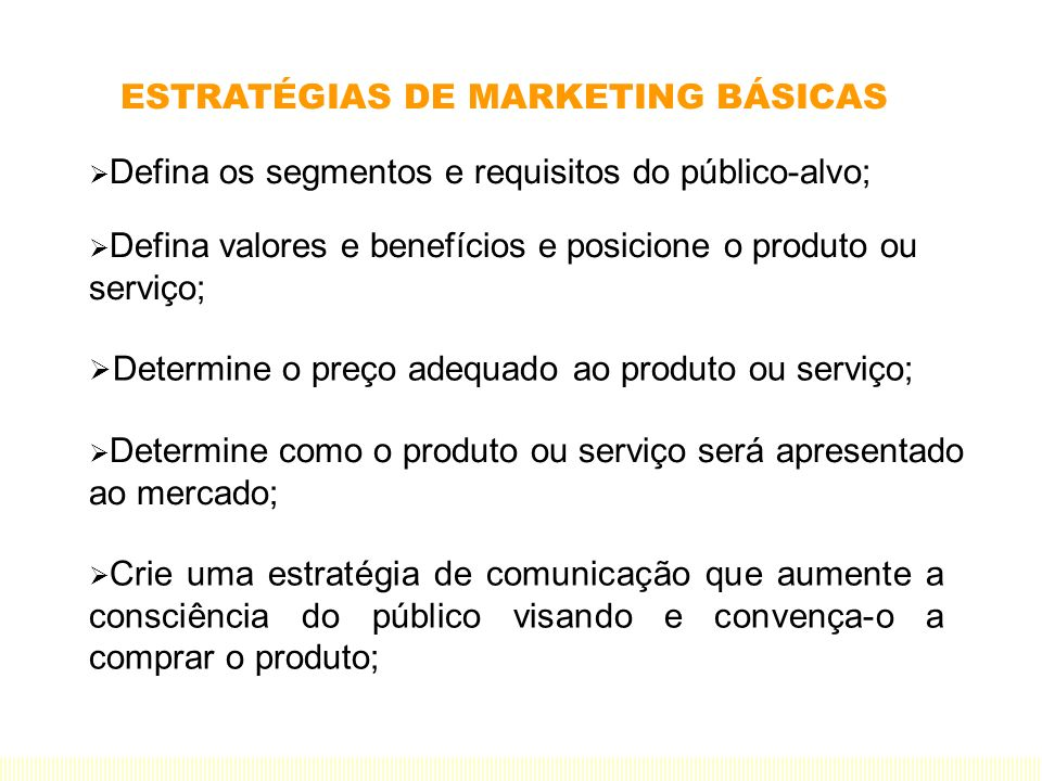 ESTRATÉGIAS DE MARKETING BÁSICAS