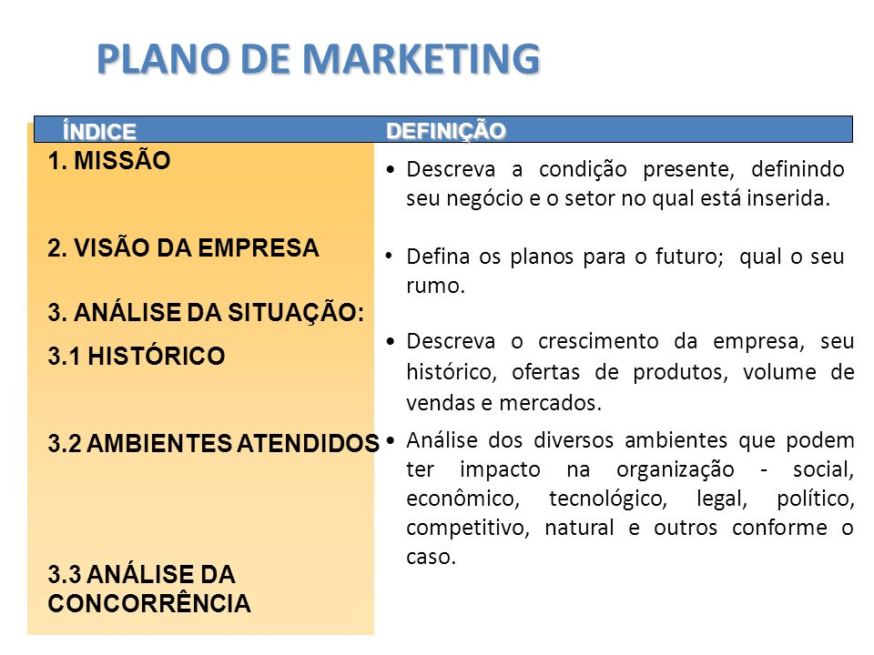 PLANO DE MARKETING 1. MISSÃO