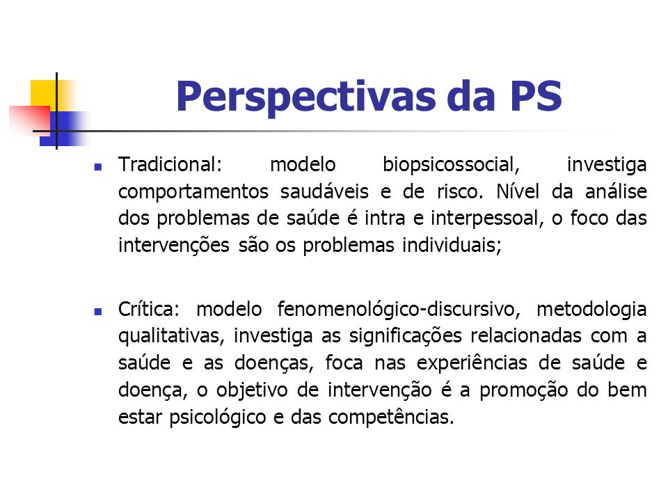 Perspectivas da PS