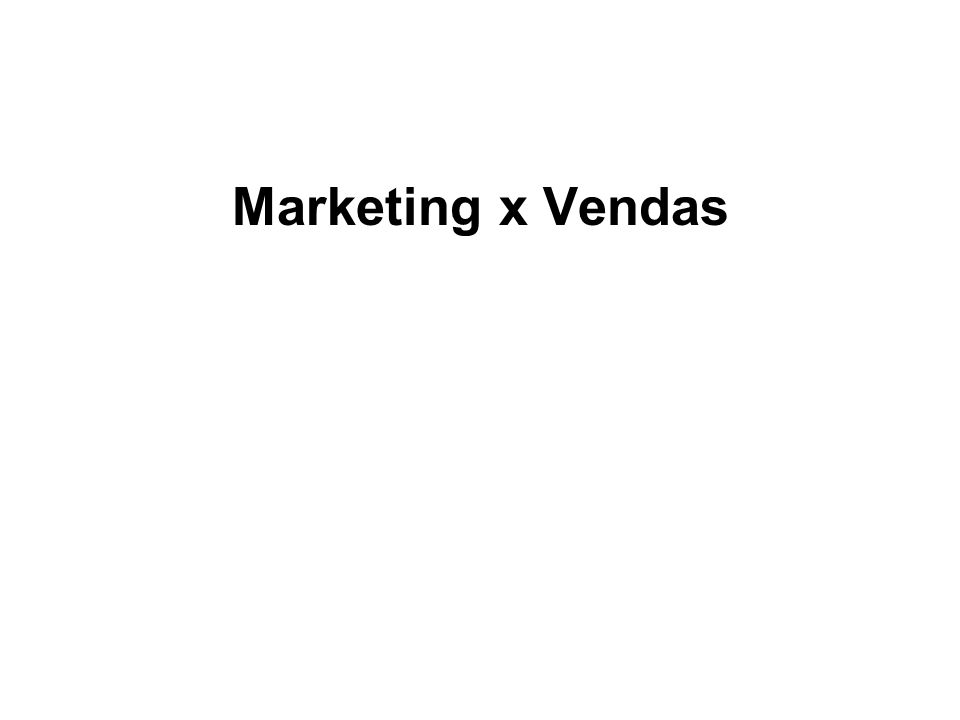 Marketing x Vendas
