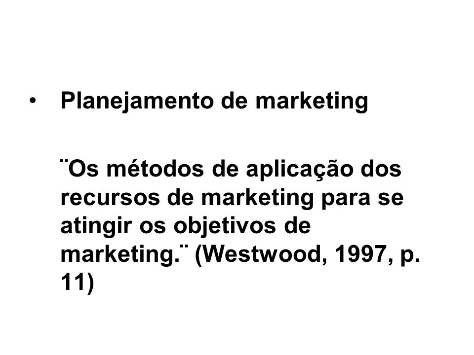 Planejamento de marketing