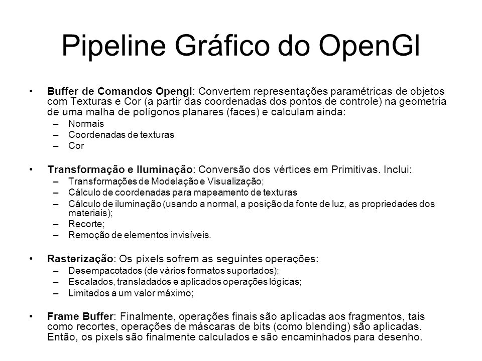 Pipeline Gráfico do OpenGl