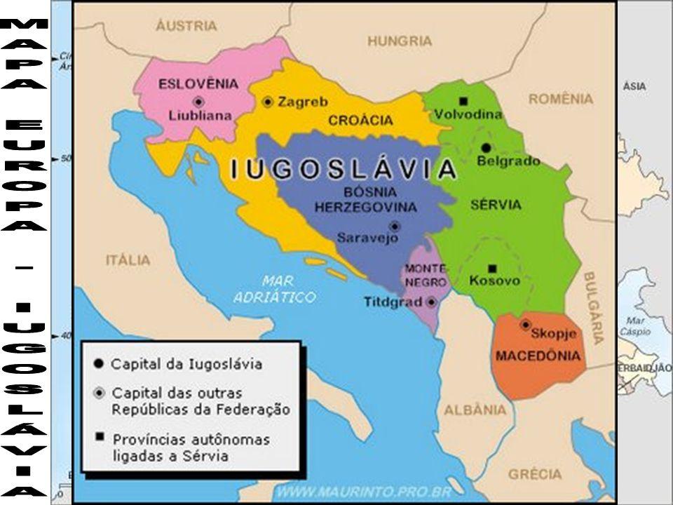 Resultado de imagem para mapa antiga iugoslávia