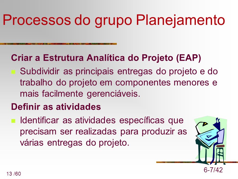 Processos do grupo Planejamento