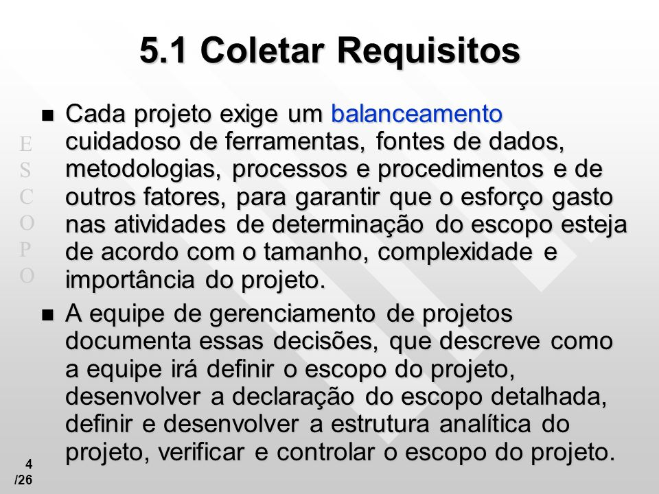 5.1 Coletar Requisitos