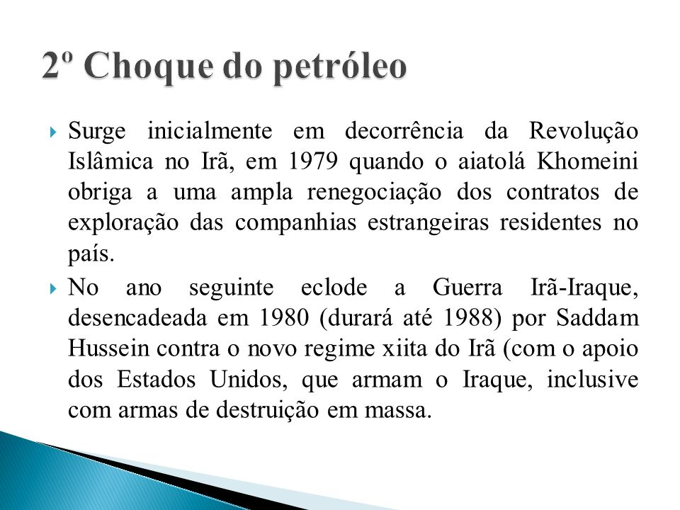 2º Choque do petróleo